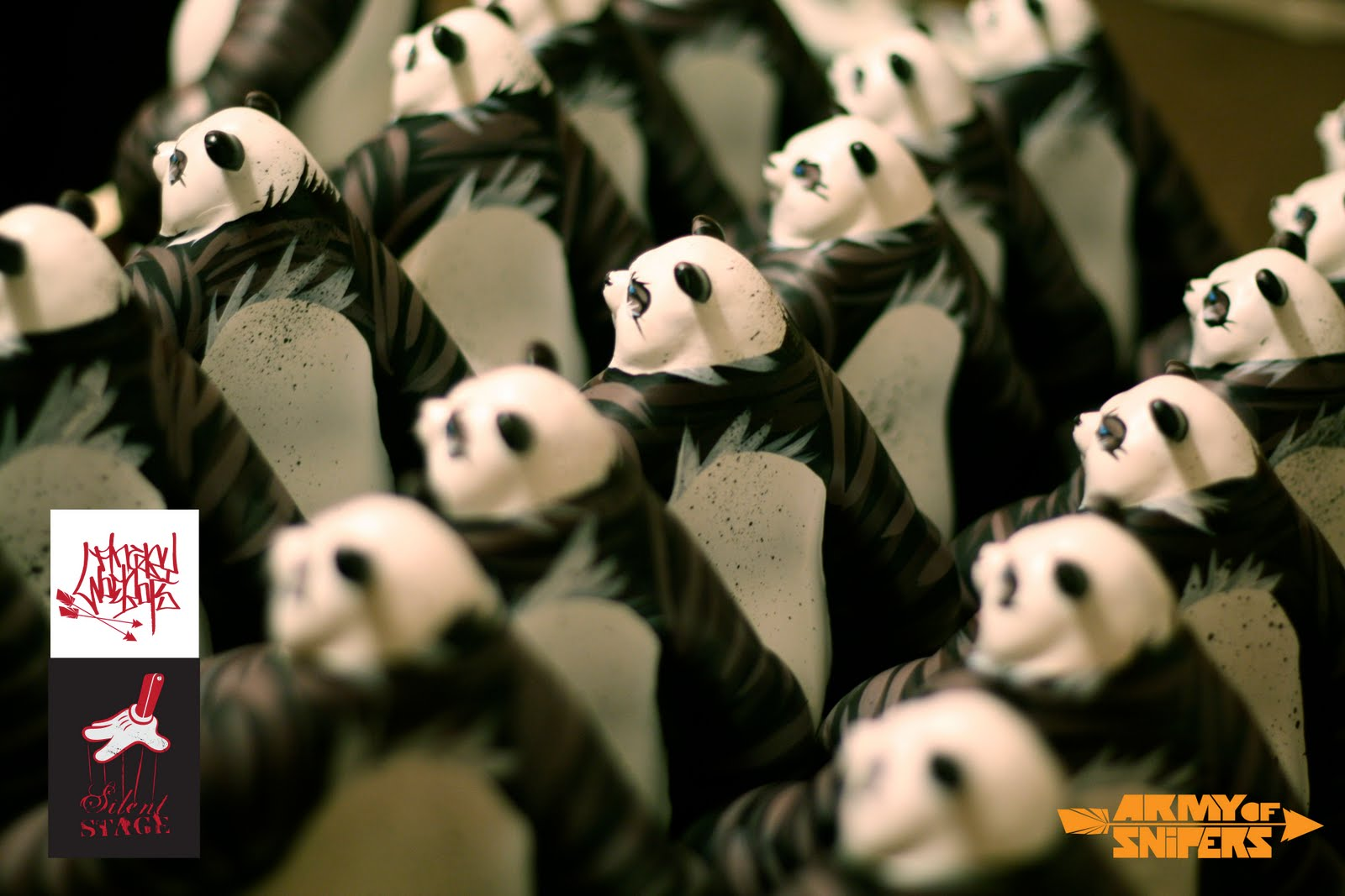 check out 70372 34aba Angry Woebots x Silent Stage Panda King