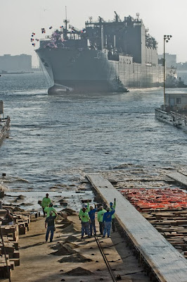NASSCO Launch of the USNS Matthew Perry — Frank Rogozienski