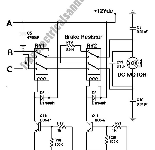 mosfet relay to control a motor schematic