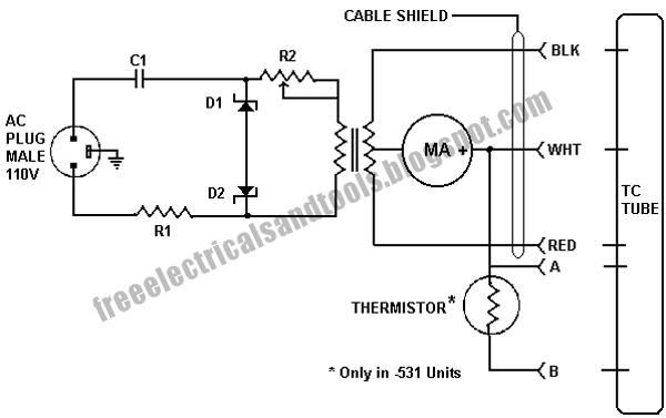Free Schematic Diagram: Thermocouple Gauge Principle Operation