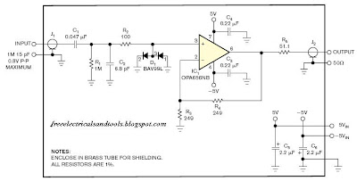 High Impedance FET And RF spectrum analyzers   diagram circuit