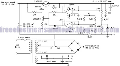 wiring diagram for car: Variable Voltage and Current Power Supply