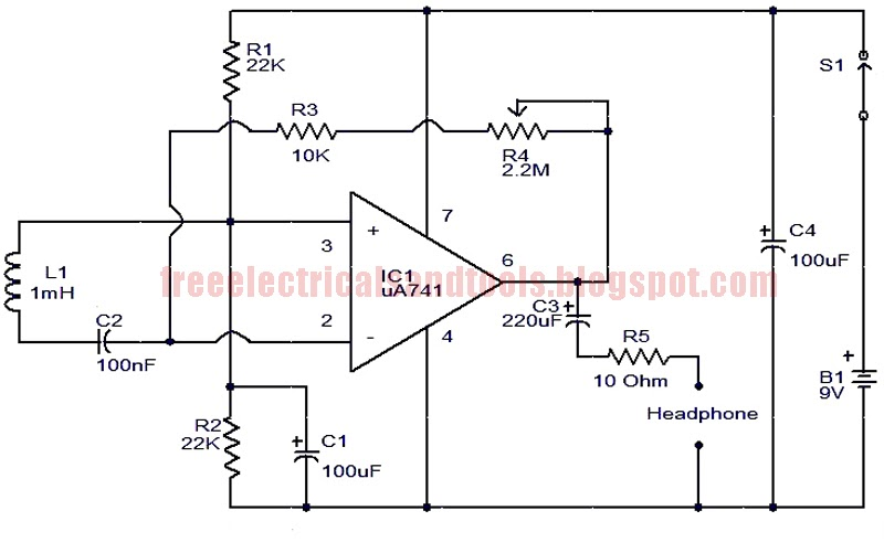 Free Schematic Diagram: Electromagnetic Sensor Circuit
