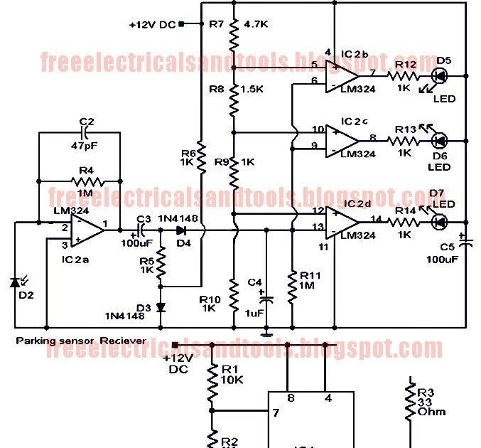 diagram circuit source parking sensor circuit using lm324. Black Bedroom Furniture Sets. Home Design Ideas