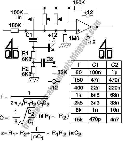 Light circuit diagram: Audio Graphic Equalizer Circuit