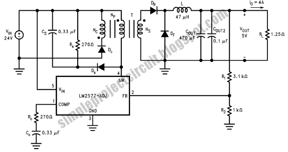 Simple Project Circuit Simple 20 Watt Switcher Forward