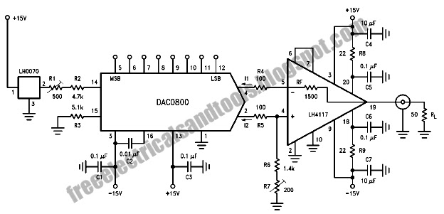Free Schematic Diagram: Trans-Impedance Amplifier for DAC