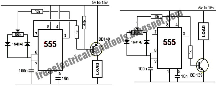 Free Schematic Diagram: 555 IC PWM Controller Circuit