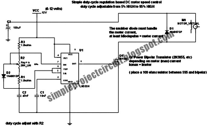3rd EYE: Simple DC Motor PWM Speed Control Circuit
