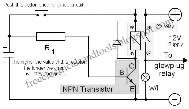 Free Schematic Diagram: The Time Delay Circuit