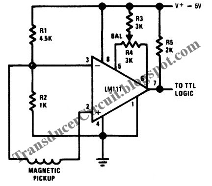 Zero Crossing Detector Circuit for Magnetic Transducer