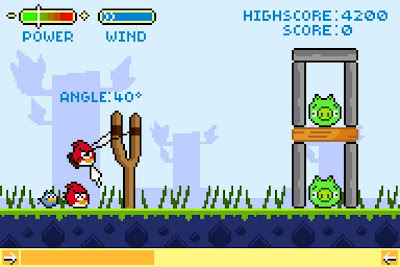 smallAngry-Bird-Retro-1 Designers ingleses criam gráficos de 8 bits para Angry Birds