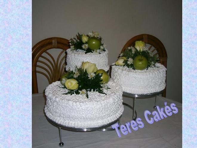 Pasteles De Boda Con Flores: TERES CAKE*S Reposteria Fina