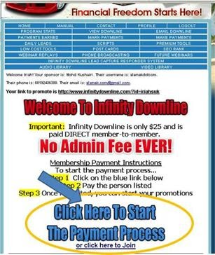 how to join infinity downline