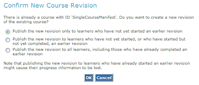 Confirm New Course Revision