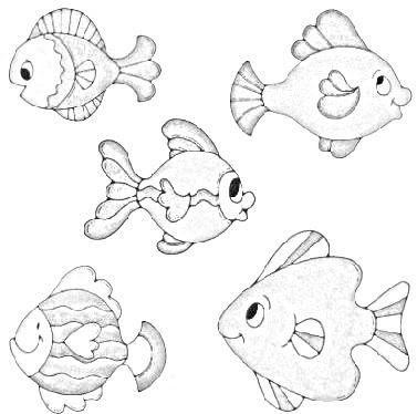 Riscos Para Pintar Em Tecido Peixinhos Desenhos Para Colorir