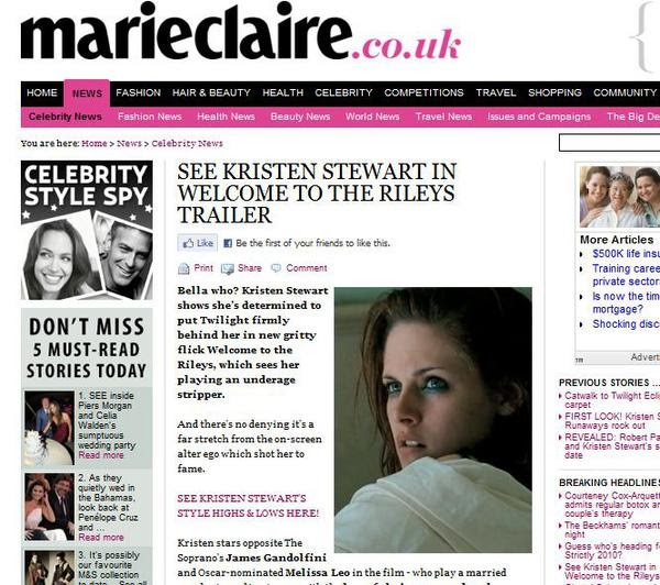 Eclipse Movie 1: Kristen Stewart MARIE CLAIRE article WTTR
