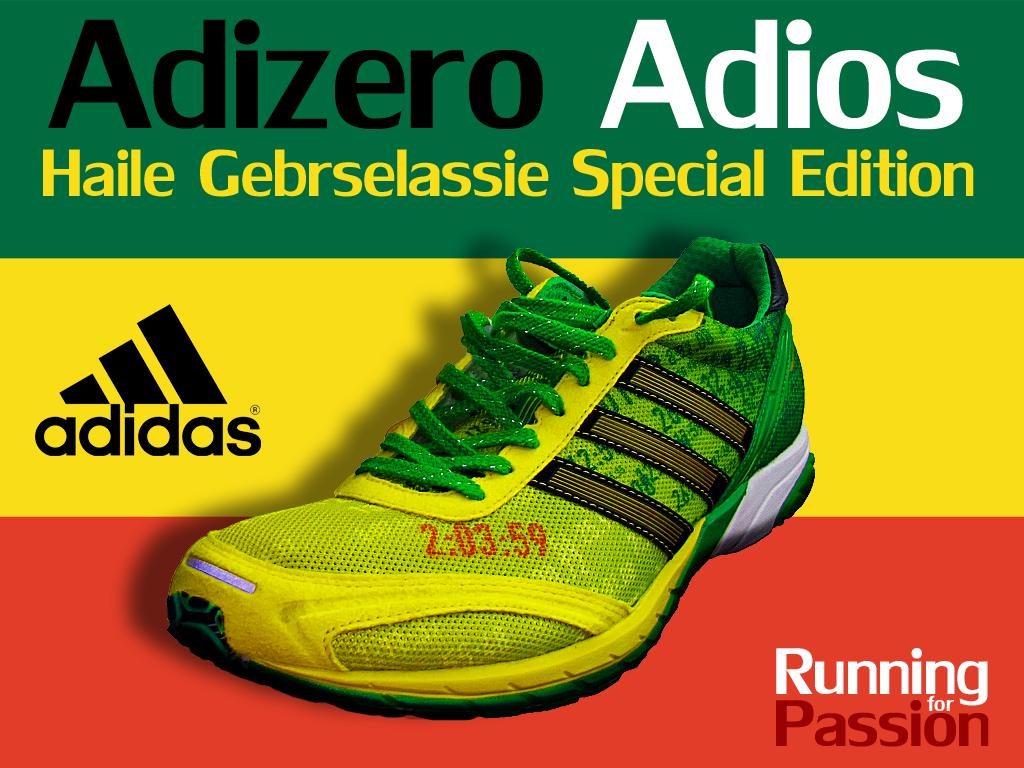 best service bf484 f2ee0 Si tratta delle Adidas Adios Special Edition! Truzzissime, da abbinare a  canotta verde e pantaloncini gialli (sperando che i colori etiopi facciano  andare ...
