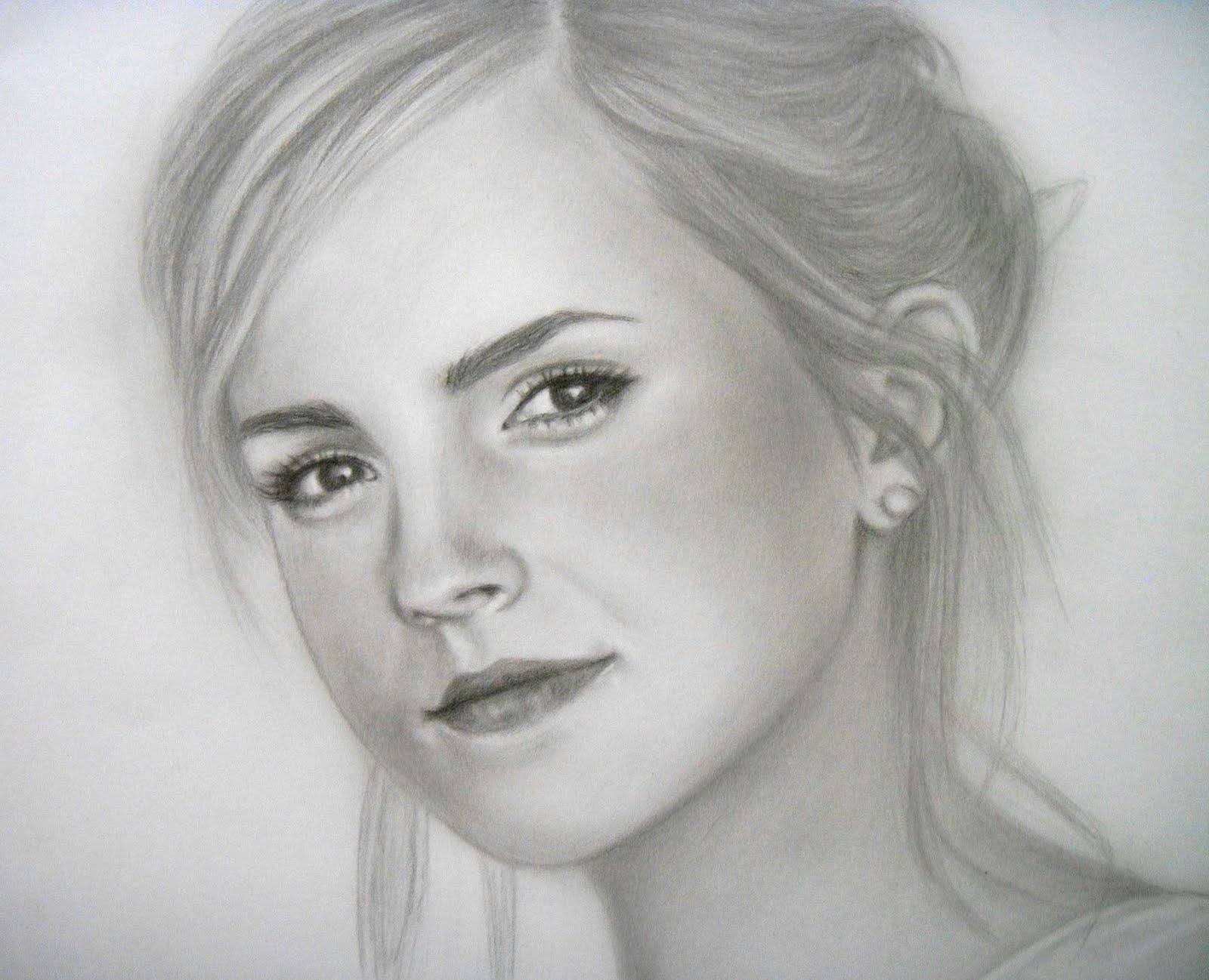 Grace in progress a pencil portrait of emma watson 2