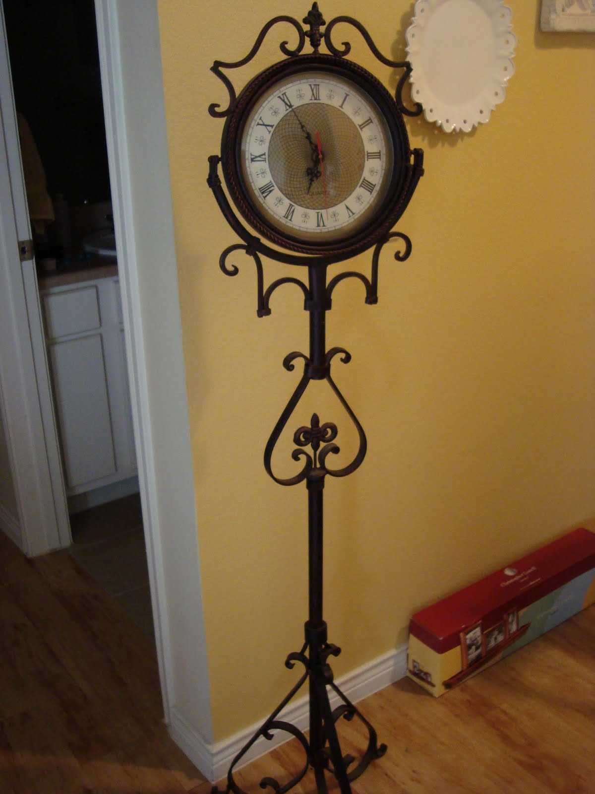 Rebecca's World Decor: Wrought Iron Floor Clock with ...
