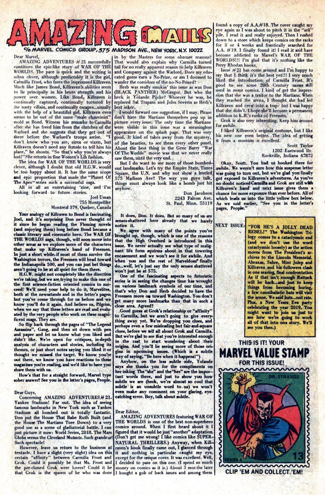 Read online Amazing Adventures (1970) comic -  Issue #23 - 33