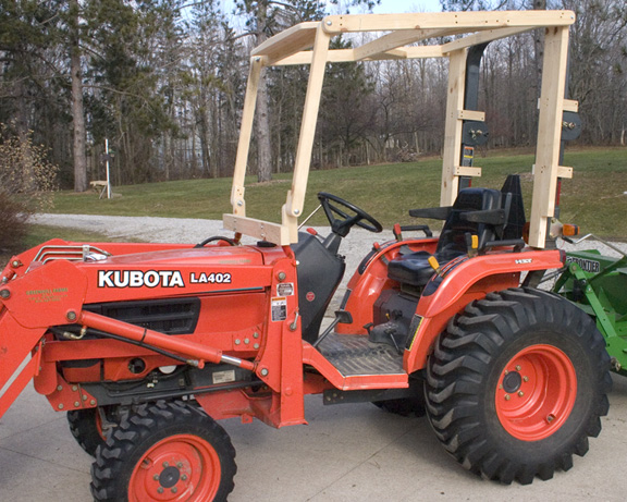 Tony Zona on the Web Building my own cab for my tractor – Garden Tractor Cab Plans