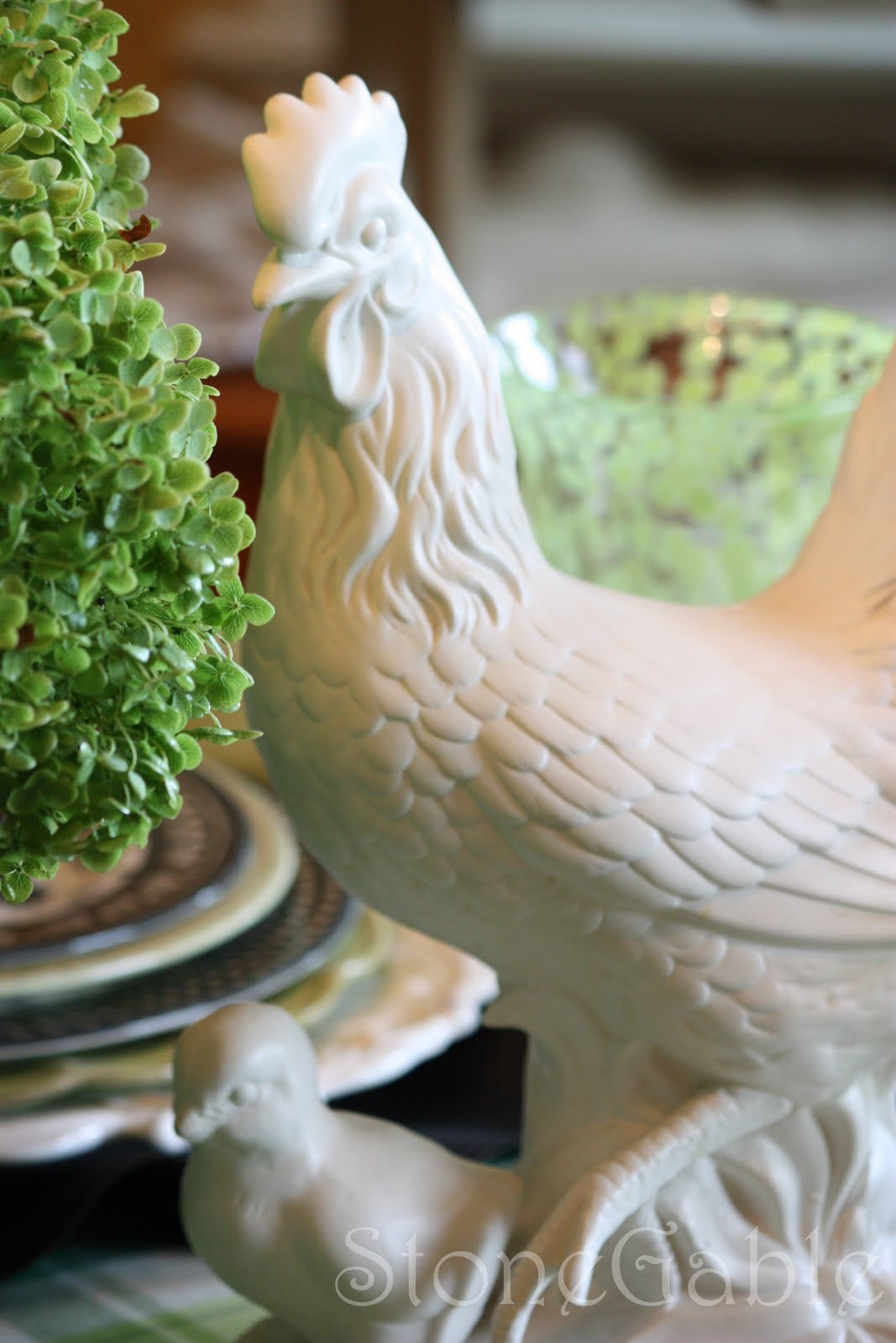 Red Rooster Coffee Garden Valley A Little French Rooster Tablescape Stonegable