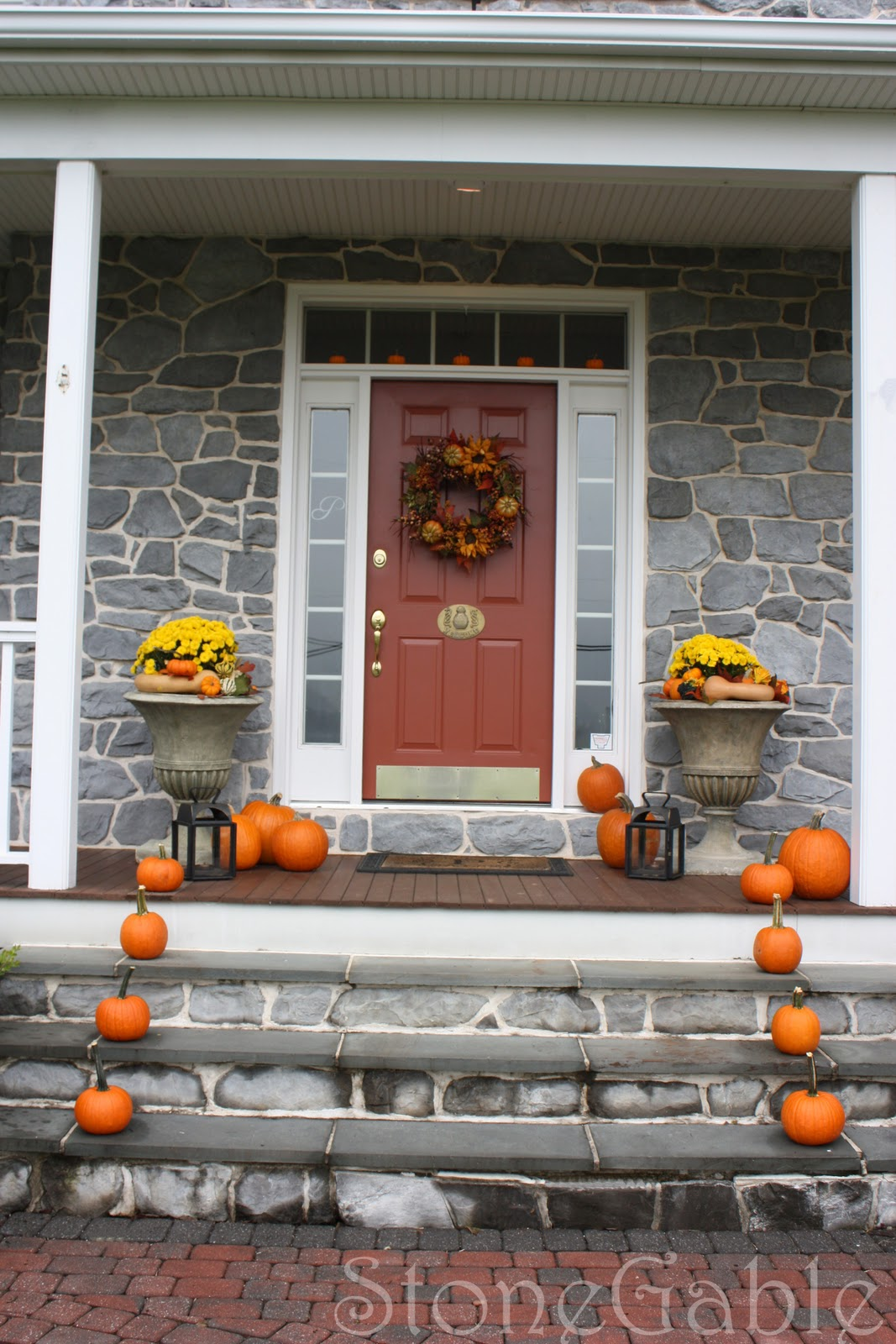 Outdoor Fall Decor - StoneGable on Fall Backyard Decorating Ideas id=52375