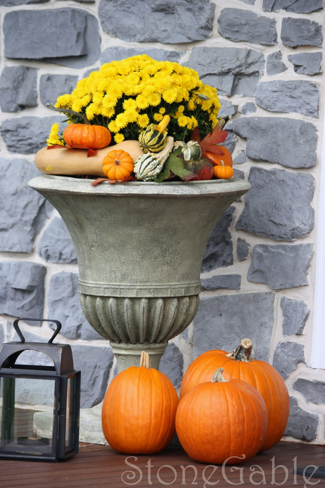 Outdoor Fall Decor Stonegable