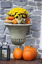 Outdoor Fall Decor - Stonegable