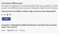 notifica accesso Facebook