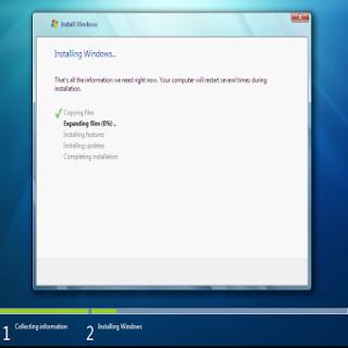 Schermata di installazione Win 7