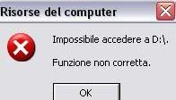 Risolvere errore di accesso al Cd-Rom se impossibile leggere cd e dvd