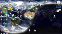 La Terra come sfondo desktop, con nuvole e luci in tempo reale