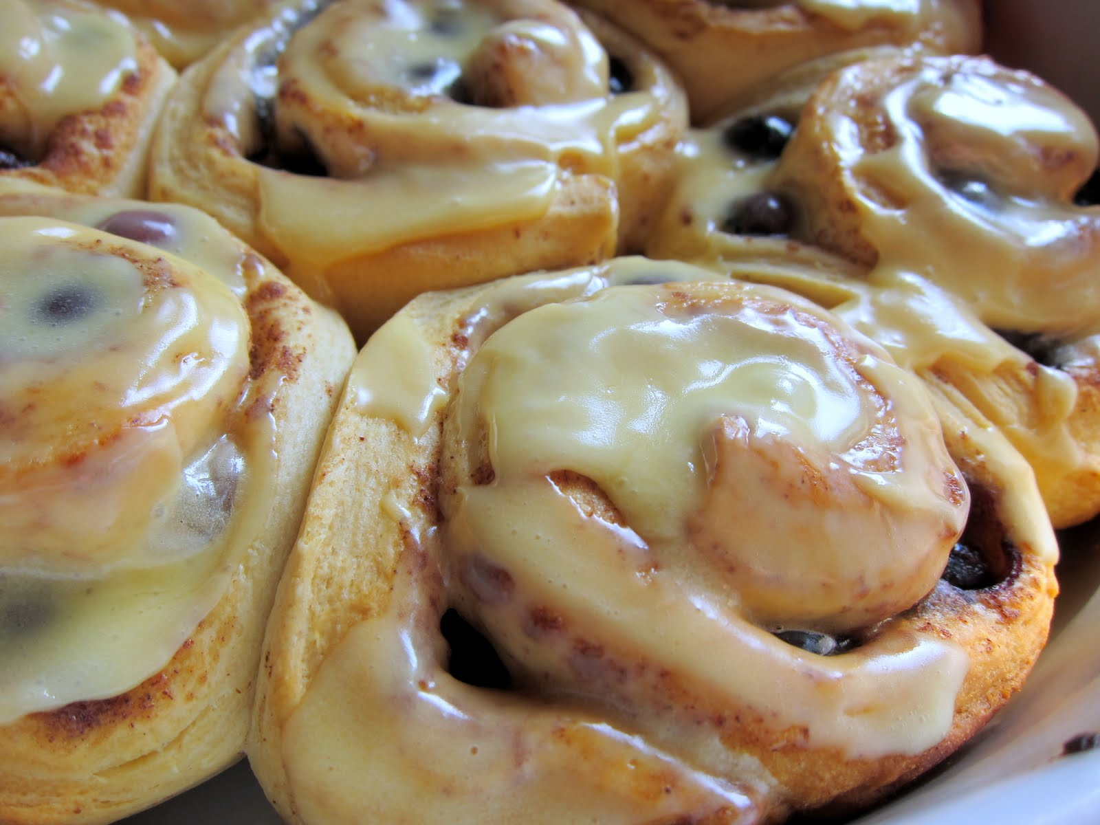 Orange Blueberry Cinnamon Rolls Plain Chicken 174
