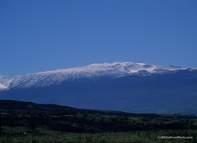 Mauna Kea with snow