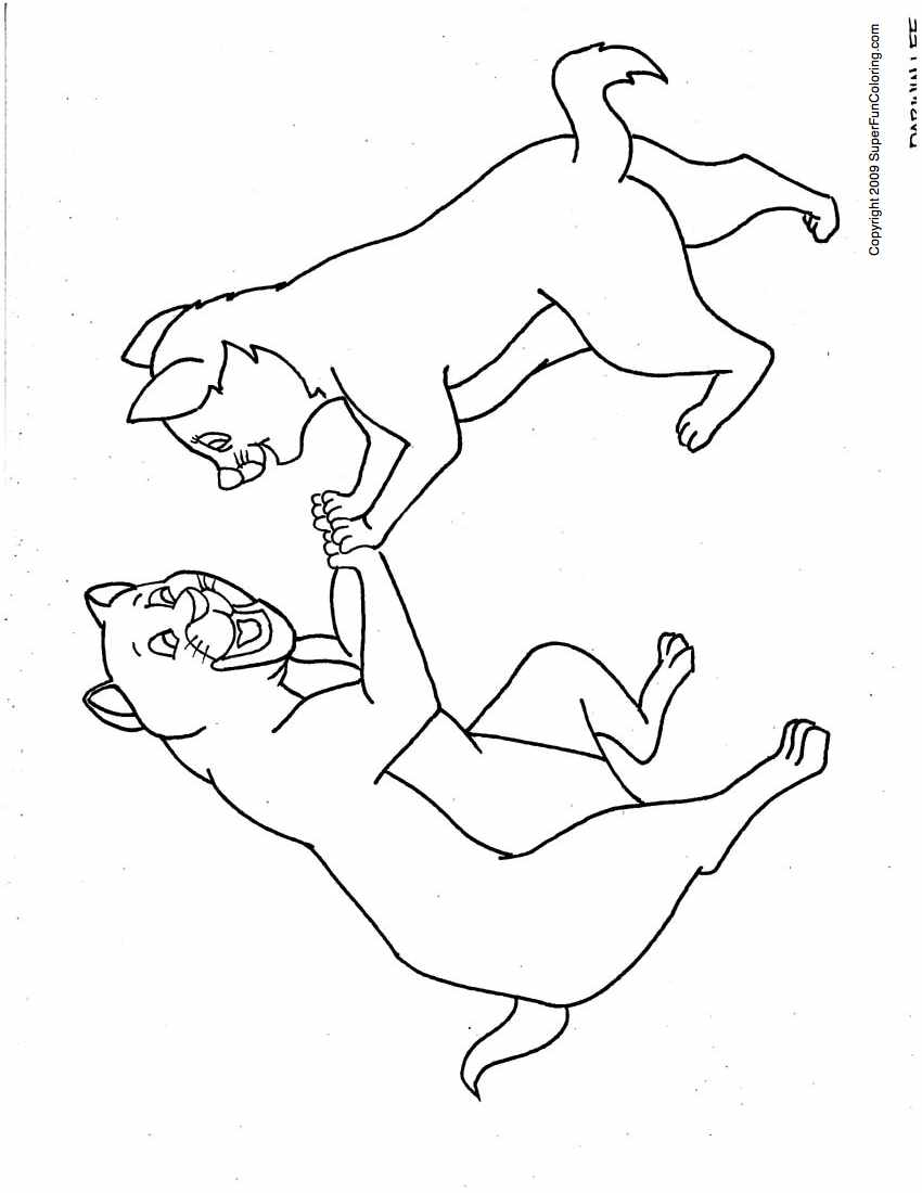 warrior cat cartoon coloring pages - photo#29