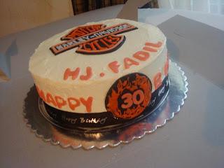 Citscakes Harley Davidson Logo Birthday Cake