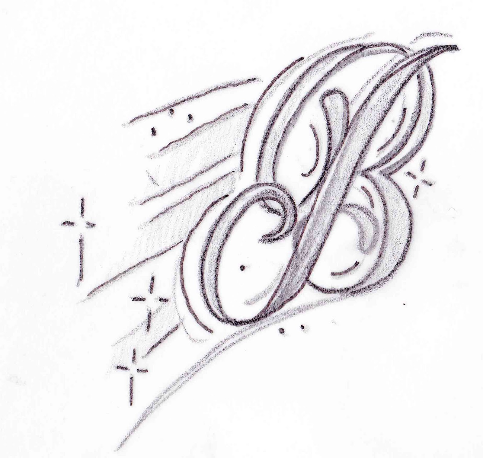 Tattoo Designs Letter B