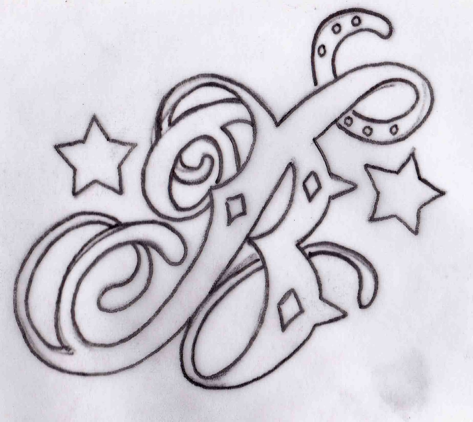 Russell Butler: B Tattoo Design