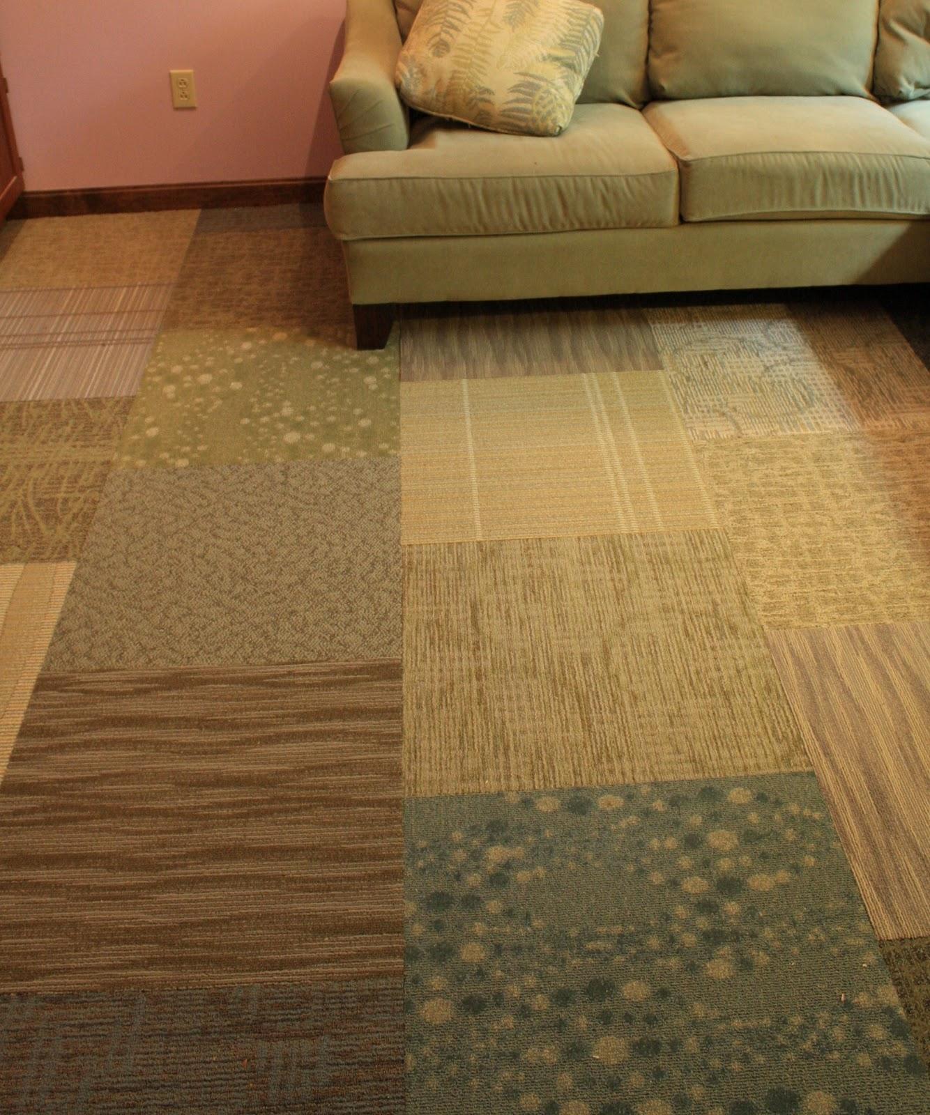 Carpets Floor Tiles: Heidi Boyd: DIY Carpet Sample Flooring