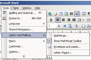 Membuat Aplikasi Mail Merge Word-Excel