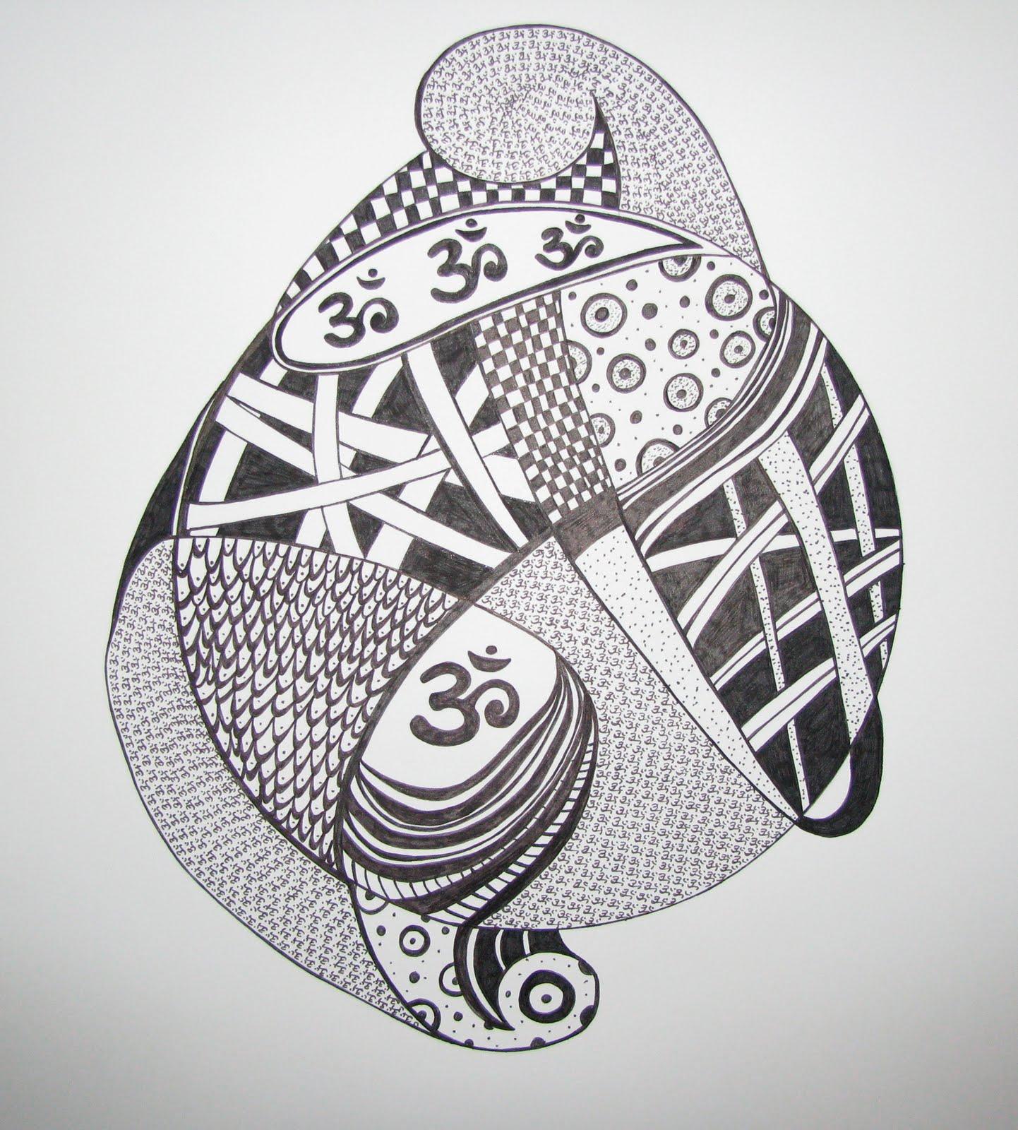 Art & Craft Projects: Likhita Japa Doodle Drawing