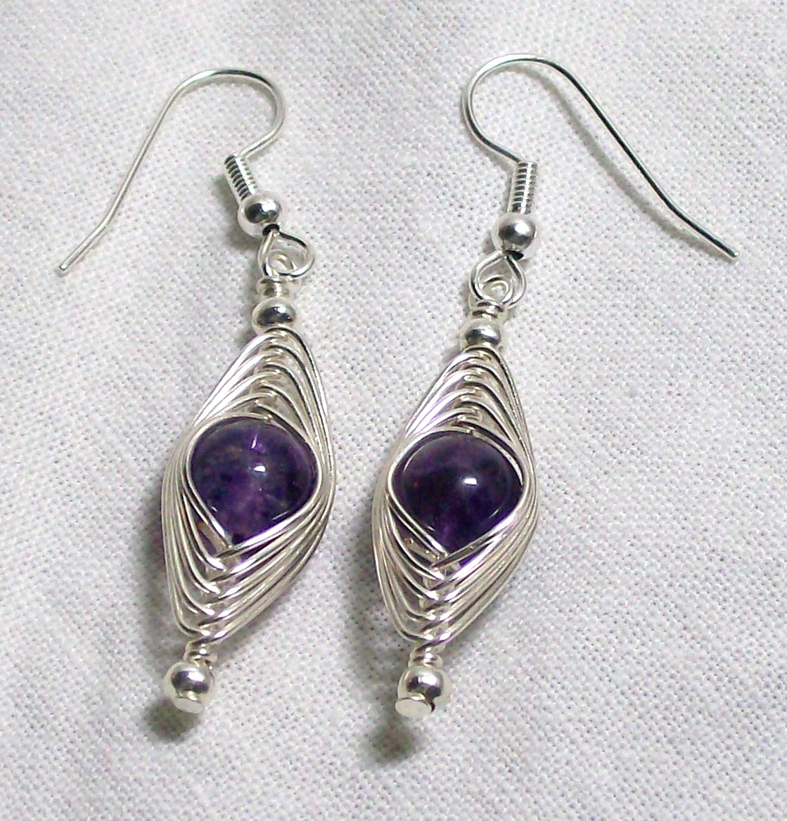 Blue Raven Creations Amethyst Wire Wrap Jewelry Set