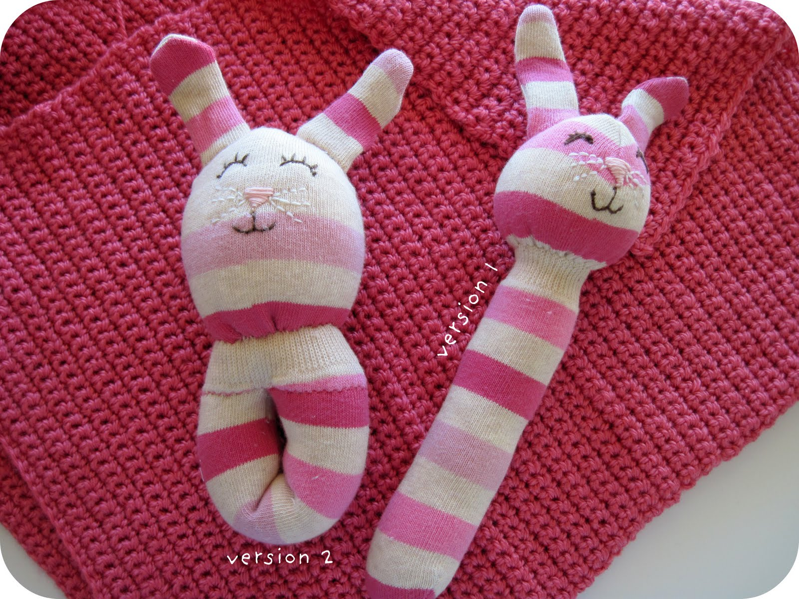 Free Baby Projects Sock Rabbit Rattle