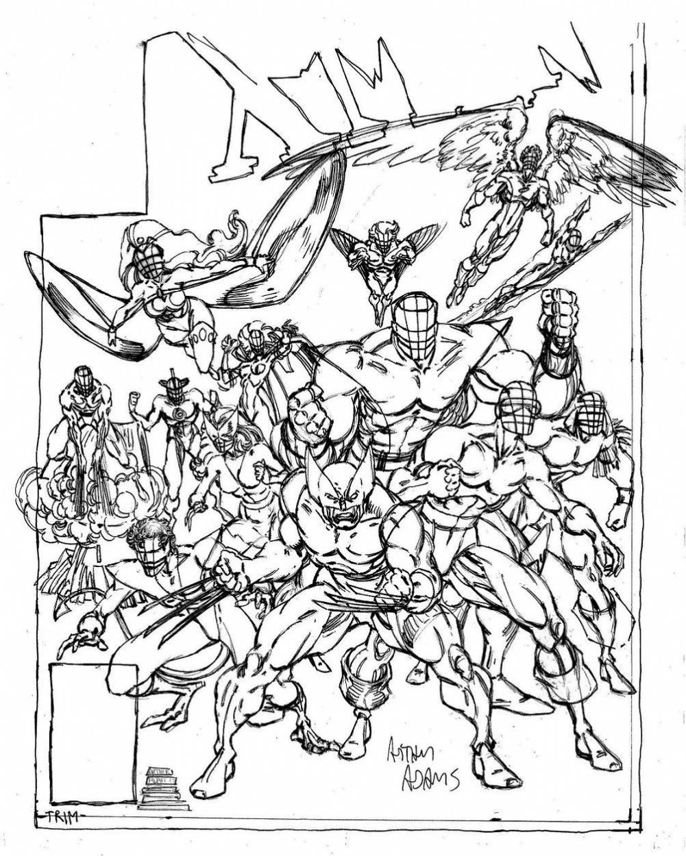 coloring pages x - marvel comics of the 1980s september 2010