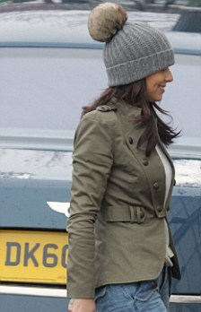 Last year Cheryl hit the front pages wearing a hat with an oversized bobble 08f5a362a90