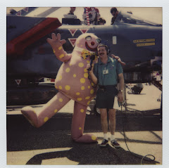 Wally Webb the first to interview Mr.Blobby live!