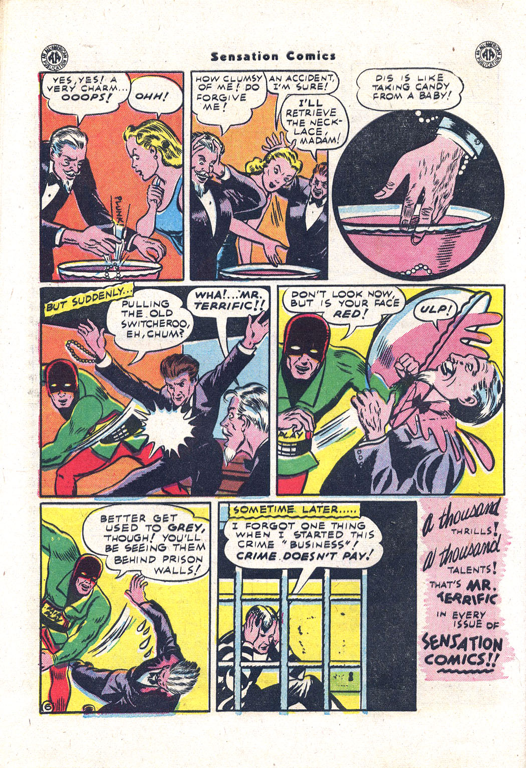 Read online Sensation (Mystery) Comics comic -  Issue #43 - 39