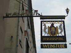 A shop sign in Wurzburg